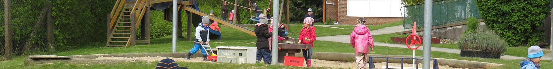Aussengelände von dem Kindergarten