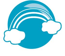 Das Logo der Regenbogengruppe